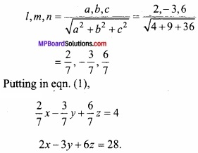 MP Board Class 12th Maths Important Questions Chapter 11 Three Dimensional Geometry IMG 14