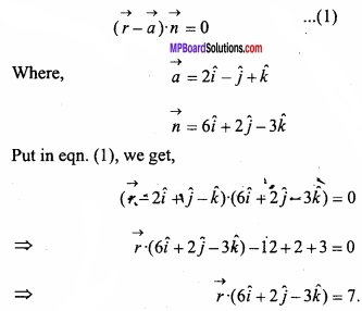 MP Board Class 12th Maths Important Questions Chapter 11 Three Dimensional Geometry IMG 21
