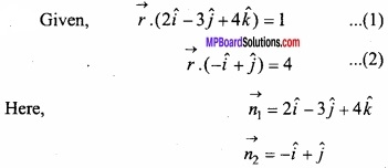 MP Board Class 12th Maths Important Questions Chapter 11 Three Dimensional Geometry IMG 25
