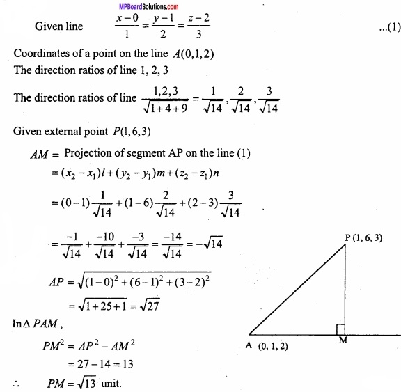 MP Board Class 12th Maths Important Questions Chapter 11 Three Dimensional Geometry IMG 26