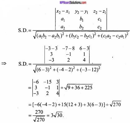 MP Board Class 12th Maths Important Questions Chapter 11 Three Dimensional Geometry IMG 28