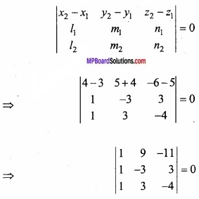 MP Board Class 12th Maths Important Questions Chapter 11 Three Dimensional Geometry IMG 30