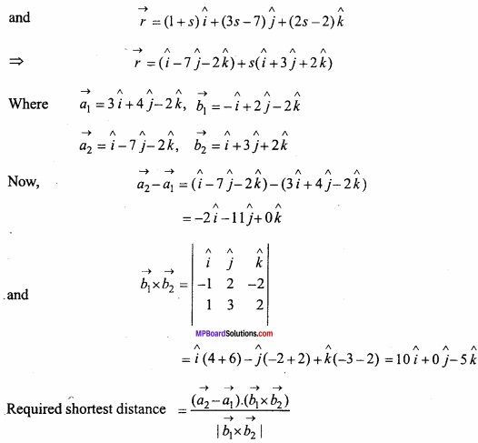 MP Board Class 12th Maths Important Questions Chapter 11 Three Dimensional Geometry IMG 36a