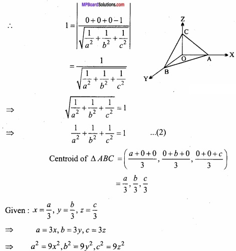 MP Board Class 12th Maths Important Questions Chapter 11 Three Dimensional Geometry IMG 40