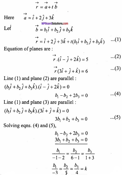 MP Board Class 12th Maths Important Questions Chapter 11 Three Dimensional Geometry IMG 41