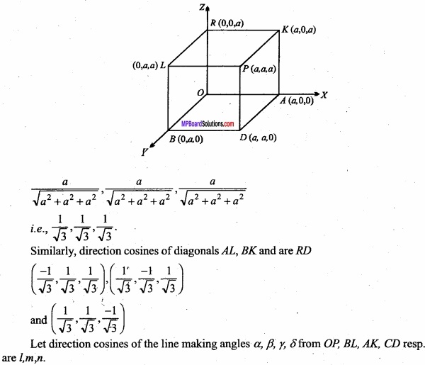 MP Board Class 12th Maths Important Questions Chapter 11 Three Dimensional Geometry IMG 43