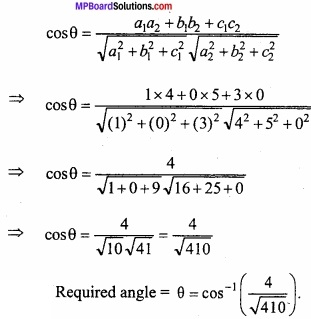 MP Board Class 12th Maths Important Questions Chapter 11 Three Dimensional Geometry IMG 8