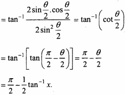 MP Board Class 12th Maths Important Questions Chapter 2 Inverse Trigonometric Functions img 27a