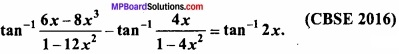 MP Board Class 12th Maths Important Questions Chapter 2 Inverse Trigonometric Functions img 29