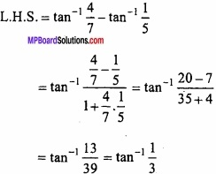 MP Board Class 12th Maths Important Questions Chapter 2 Inverse Trigonometric Functions img 5
