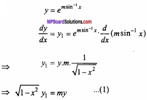 MP Board Class 12th Maths Important Questions Chapter 5B अवकलन img 17