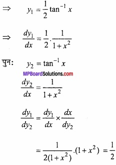 MP Board Class 12th Maths Important Questions Chapter 5B अवकलन img 46a