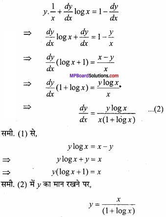 MP Board Class 12th Maths Important Questions Chapter 5B अवकलन img 52