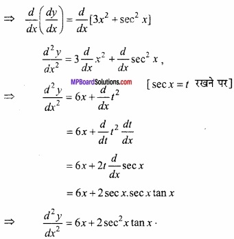 MP Board Class 12th Maths Important Questions Chapter 5B अवकलन img 9