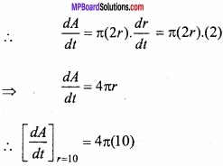 MP Board Class 12th Maths Important Questions Chapter 6 Application of Derivatives img 2