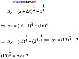 MP Board Class 12th Maths Important Questions Chapter 6 Application of Derivatives img 33