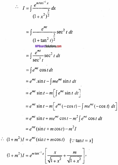 MP Board Class 12th Maths Important Questions Chapter 7 समाकलन img 40