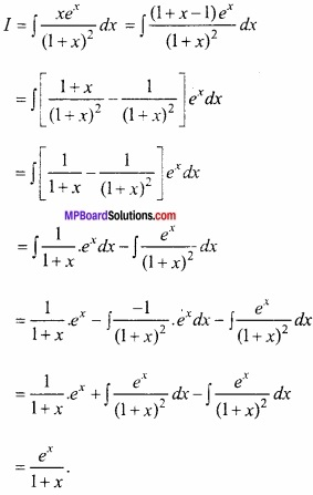 MP Board Class 12th Maths Important Questions Chapter 7 समाकलन img 48