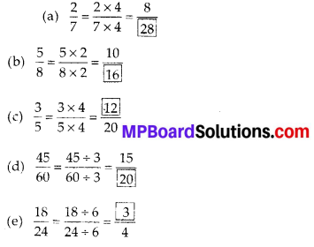 MP Board Class 6th Maths Solutions Chapter 7 Fractions Ex 7.3 5