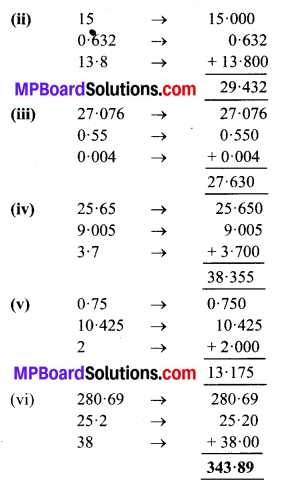 MP Board Class 6th Maths Solutions Chapter 8 दशमलव Ex 8.5 image 2