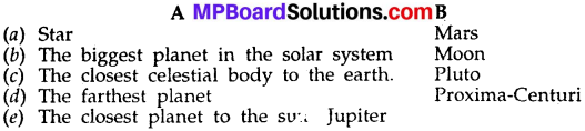 MP Board Class 6th Social Science Solutions Chapter 5 The Solar System and Our Earth 4a