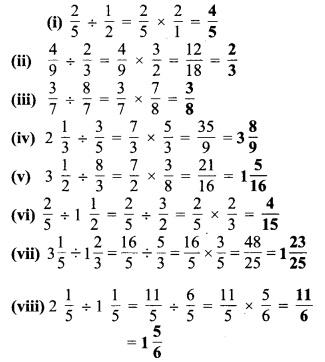 MP Board Class 7th Maths Solutions Chapter 2 भिन्न एवं दशमलव Ex 2. 4 4a