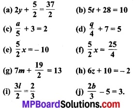 MP Board Class 7th Maths Solutions Chapter 4 सरल समीकरण Ex 4.3 1