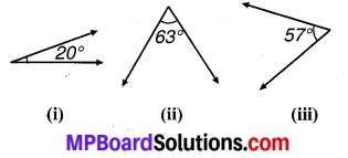 MP Board Class 7th Maths Solutions Chapter 5 रेखा एवं कोण Ex 5.1 1