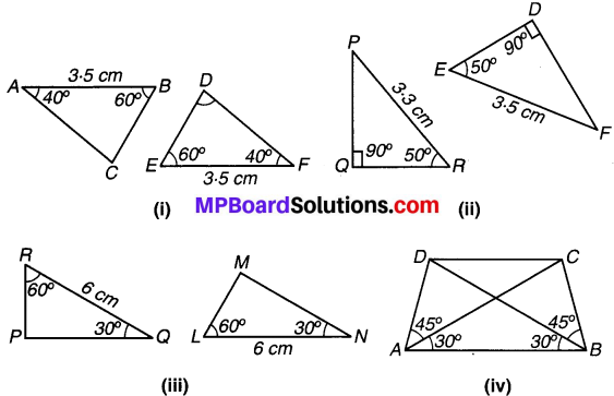 MP Board Class 7th Maths Solutions Chapter 7 त्रिभुजों की सर्वांगसमता Ex 7.1 image 9