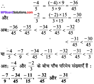 MP Board Class 7th Maths Solutions Chapter 9 परिमेय संख्याएँ Ex 9.1 image 5