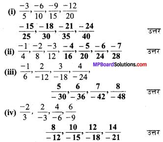 MP Board Class 7th Maths Solutions Chapter 9 परिमेय संख्याएँ Ex 9.1 image 7