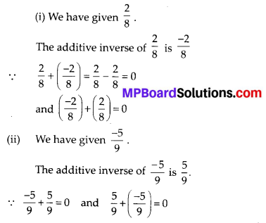 Mp Board Solution Class 8th Maths