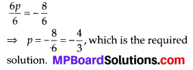 MP Board Class 8th Maths Solutions Chapter 2 Linear Equations in One Variable Ex 2.1 8