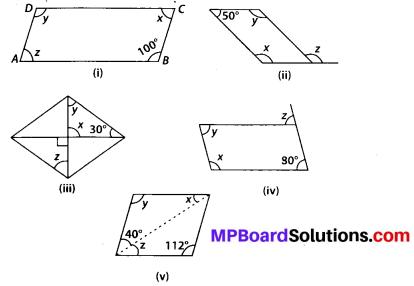 MP Board Class 8th Maths Solutions Chapter 3 Understanding Quadrilaterals Ex 3.3 2