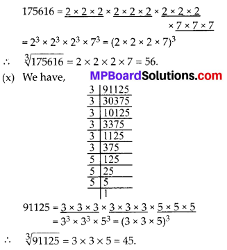 MP Board Class 8th Maths Solutions Chapter 7 Cube and Cube Roots Ex 7.2 8