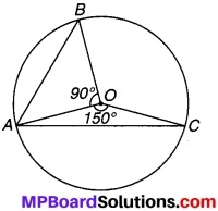 MP Board Class 9th Maths Solutions Chapter 10 वृत्त Additional Questions 7