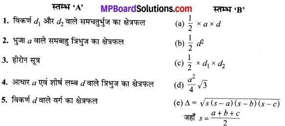 MP Board Class 9th Maths Solutions Chapter 12 हीरोन का सूत्र Additional Questions 11