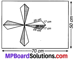 MP Board Class 9th Maths Solutions Chapter 12 हीरोन का सूत्र Additional Questions 4