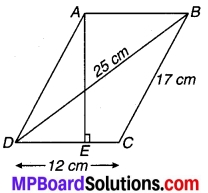 MP Board Class 9th Maths Solutions Chapter 12 हीरोन का सूत्र Additional Questions 7