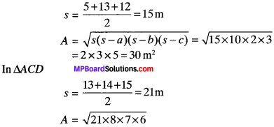 MP Board Class 9th Maths Solutions Chapter 12 Heron's Formula Ex 12.1 img-11
