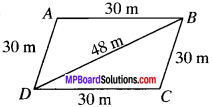 MP Board Class 9th Maths Solutions Chapter 12 Heron's Formula Ex 12.2 img-8