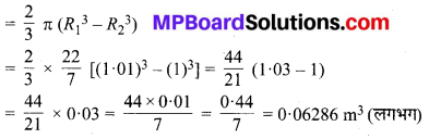 MP Board Class 9th Maths Solutions Chapter 13 पृष्ठीय क्षेत्रफल एवं आयतन Ex 13.8 image 2