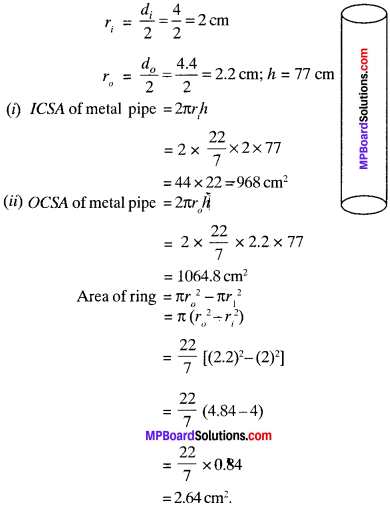 MP Board Class 9th Maths Solutions Chapter 13 Surface Areas and Volumes Ex 13.2 img-1