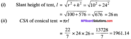 MP Board Class 9th Maths Solutions Chapter 13 Surface Areas and Volumes Ex 13.3 img-2