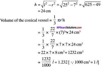 MP Board Class 9th Maths Solutions Chapter 13 Surface Areas and Volumes Ex 13.7 img-2