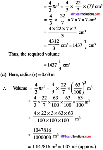 MP Board Class 9th Maths Solutions Chapter 13 Surface Areas and Volumes Ex 13.8 img-1