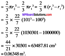 MP Board Class 9th Maths Solutions Chapter 13 Surface Areas and Volumes Ex 13.8 img-4
