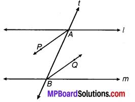 MP Board Class 9th Maths Solutions Chapter 6 रेखाएँ और कोण Ex 6.3 17