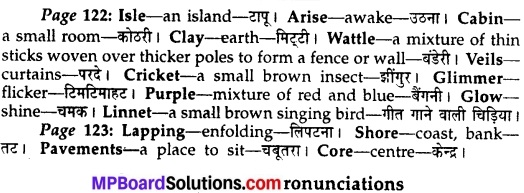 MP Board Class 10th English The Rainbow Solutions Chapter 14 Lake Isle of Innisfree 2
