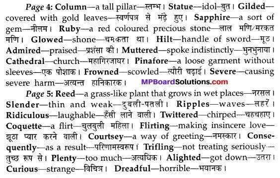 MP Board Class 10th English The Rainbow Solutions Chapter 2 The Happy Prince 1